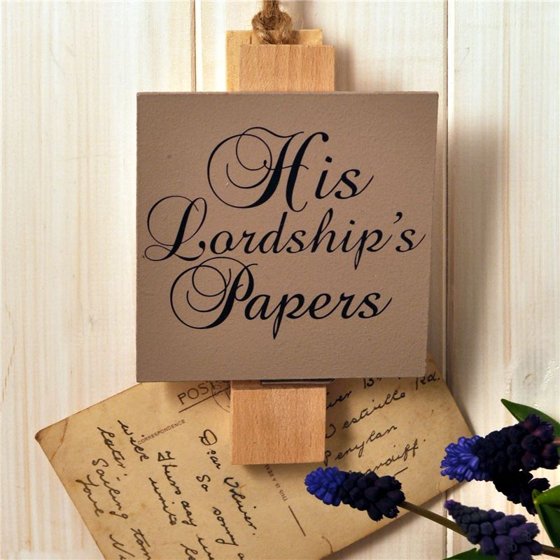 Order Wooden Peg: His Lordship's Papers