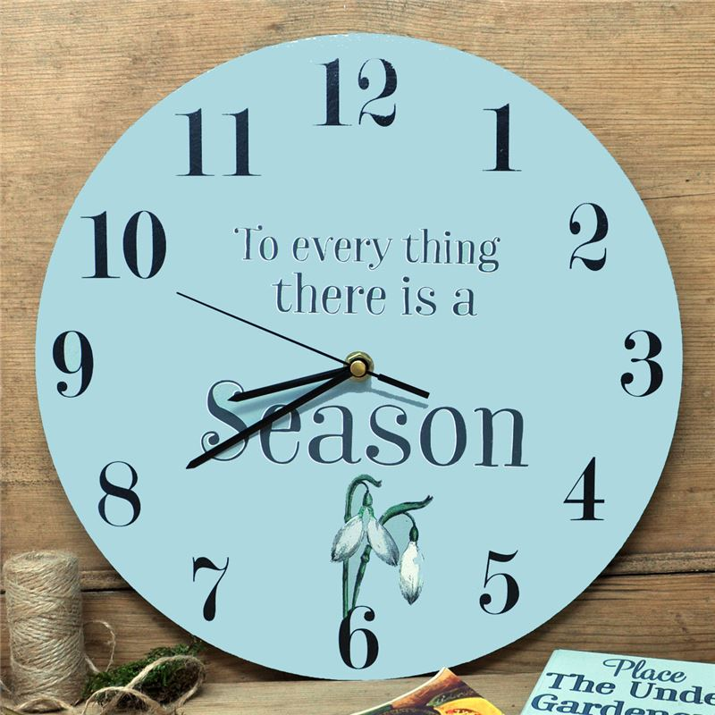 Order Painted clock- To every thing there is a season