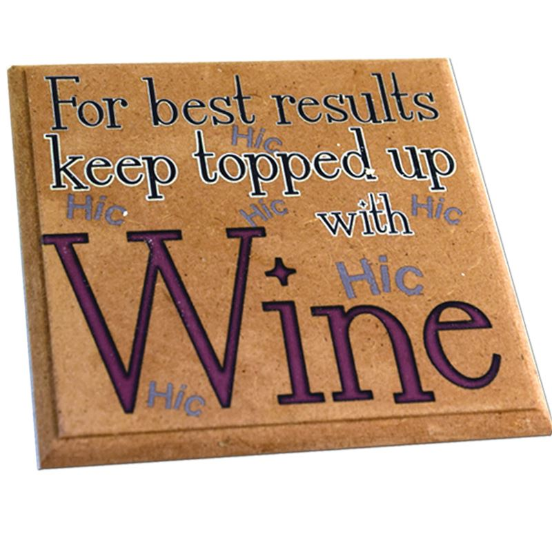 Order Witty Wine Coaster