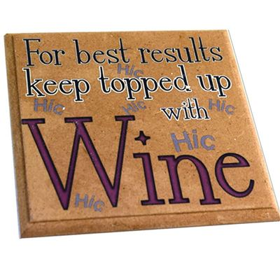 Witty Wine Coaster