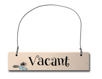 Hand Painted Wooden Door Sign:  Vacant/Engaged