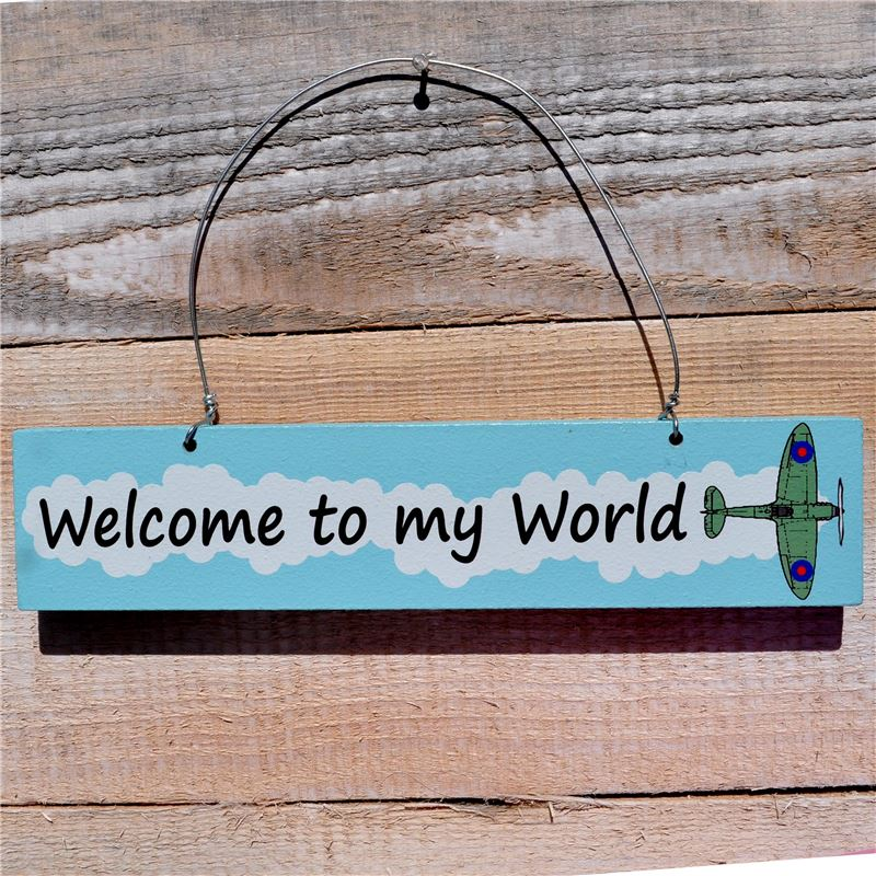 Order Wooden Door Sign: Welcome To My World