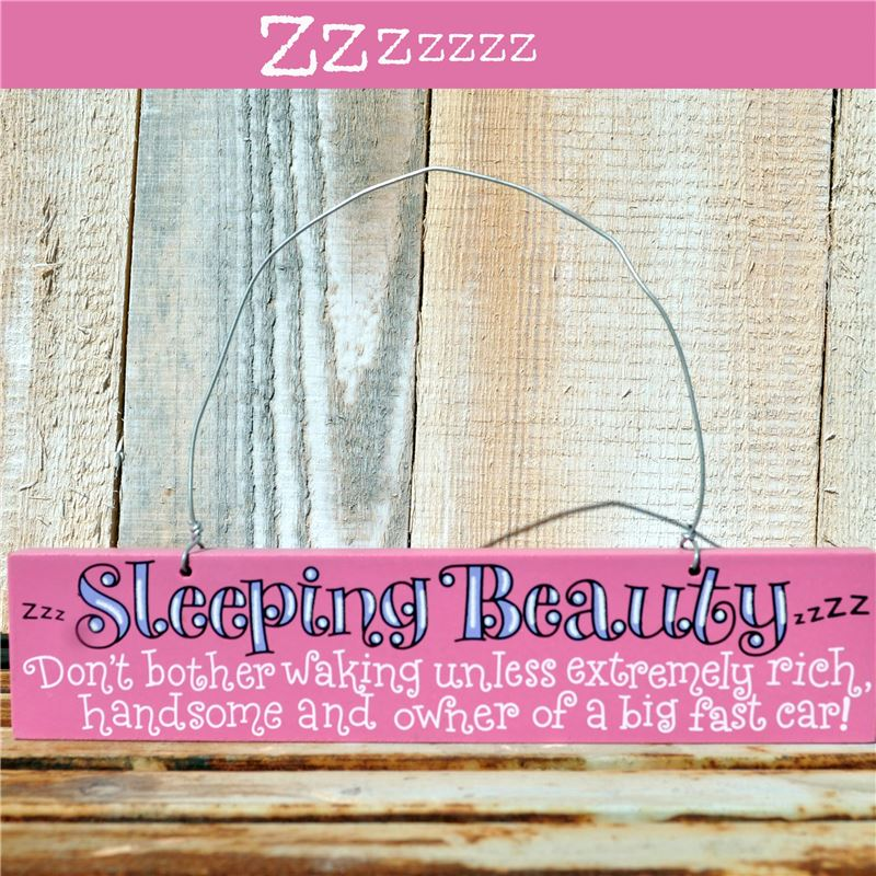 Order Hand Painted Wooden Door Sign:  Sleeping Beauty