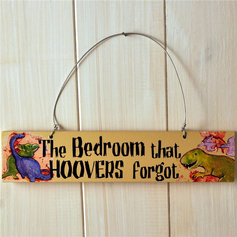 Order Wooden Door Sign:  The Bedroom That Hoovers Forgot