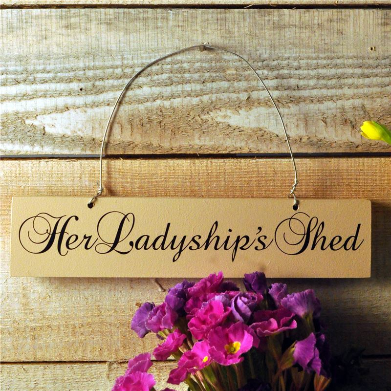 Order Hand Painted Wooden Sign Her Ladyship's Shed