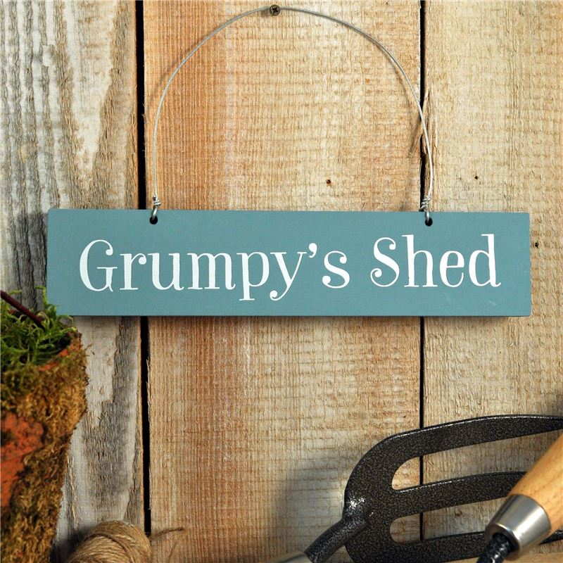 Order Copy of Hand Painted Wooden Sign:  Grumpy's Shed