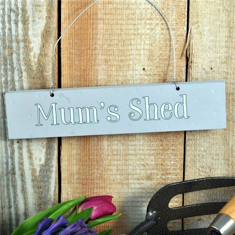 Order  Hand Painted Wooden Sign:  Mum's Shed