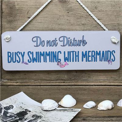 Bathroom Sign . Busy swimming with mermaids