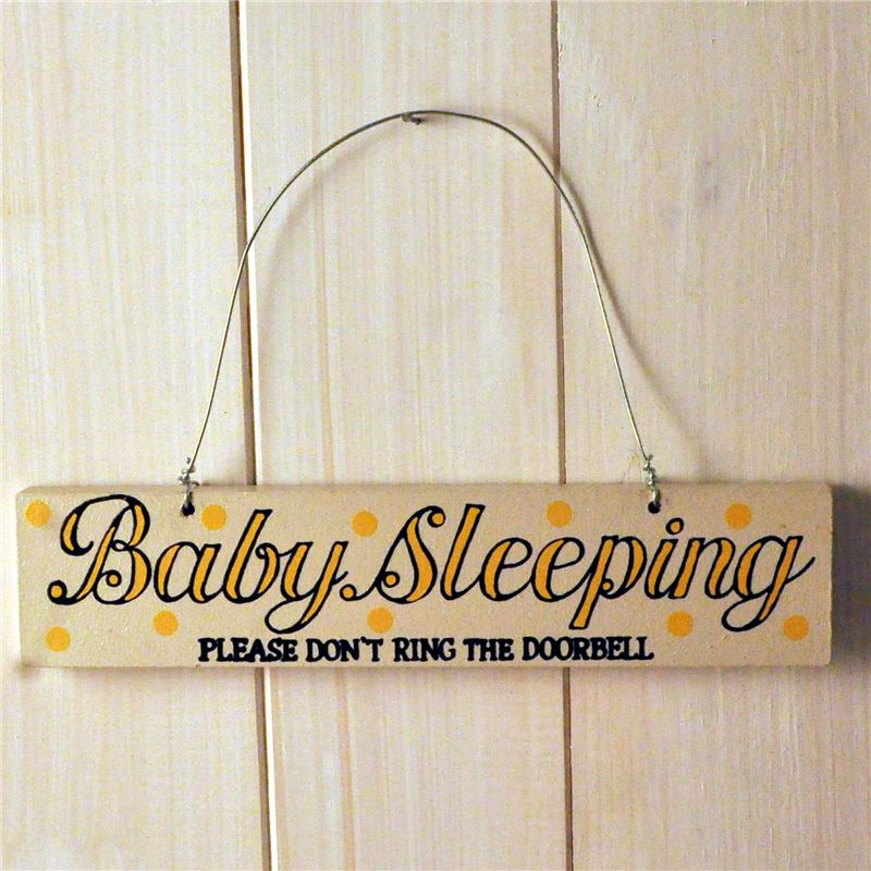 Hand painted wooden sign:  Baby Sleeping