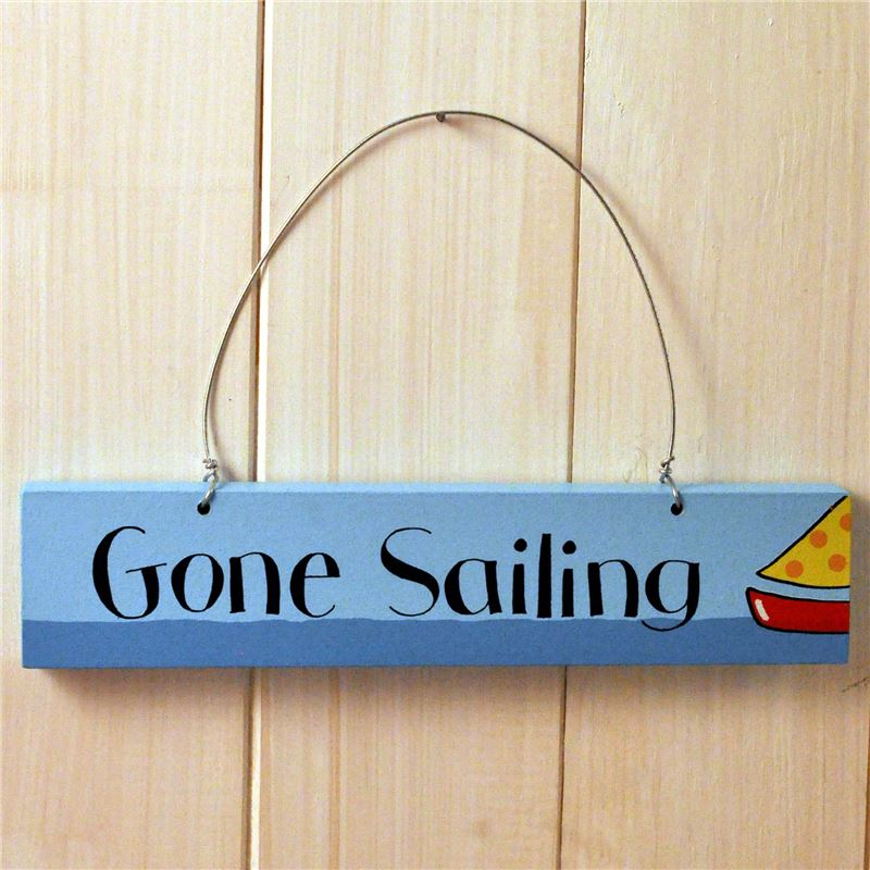 Order Hand Painted Wooden Sign:  Gone Sailing