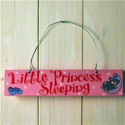 Wooden Door Sign: Little Princess Sleeping