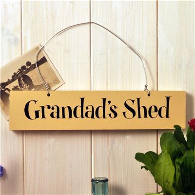 Hand Painted Wooden Sign Grandad's Shed