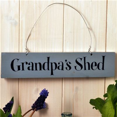 Hand Painted Wooden Sign:  Grandpa's Shed