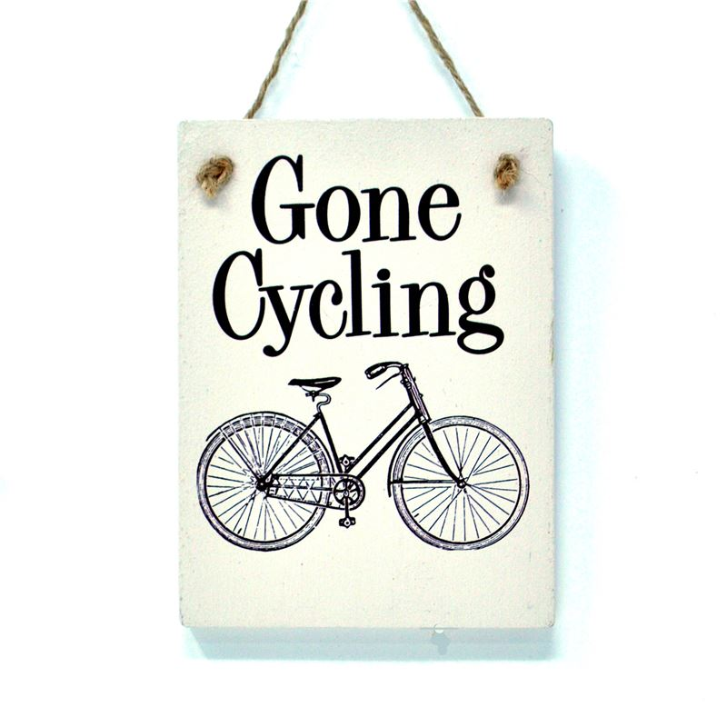 Gone cycling