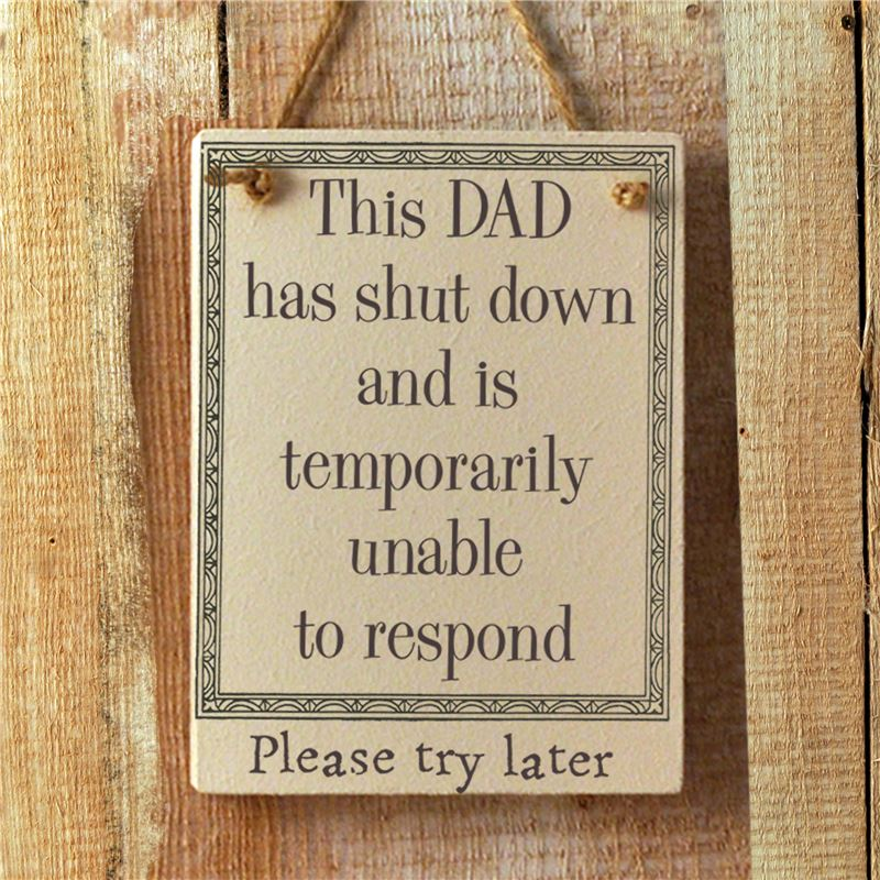 Order This Dad has Shut down