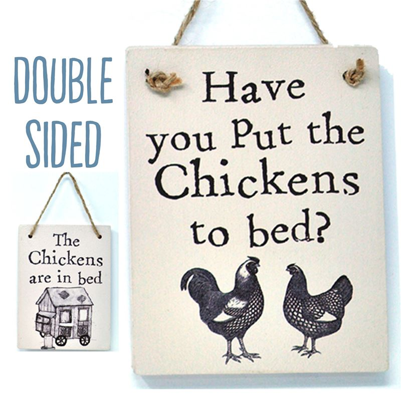 Double Sided Chickens to Bed (etch)