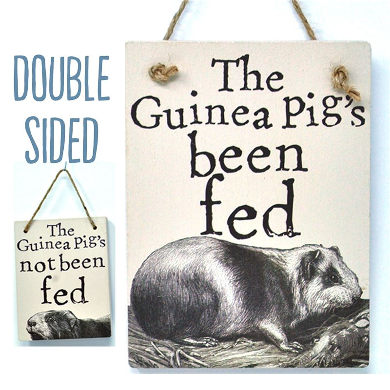 Double Sided The Guinea Pig's Been Fed - (etch)