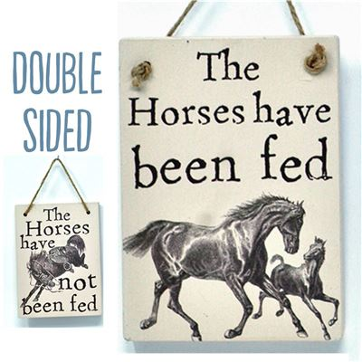Double Sided The Horses Have Been Fed - (etch)