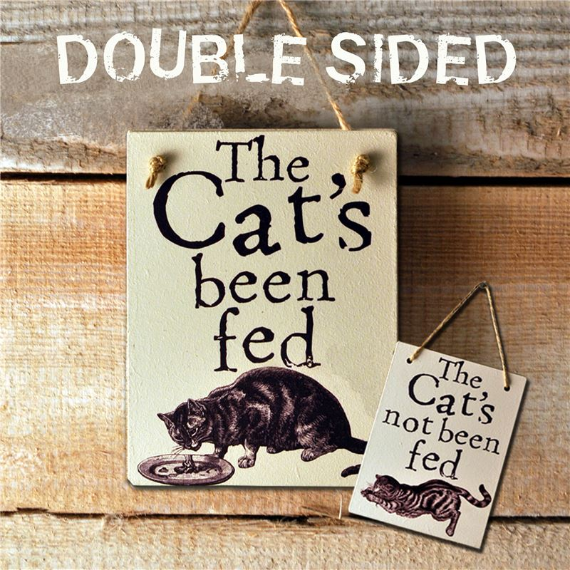 Order Double Sided The Cat's Been Fed - (etch)