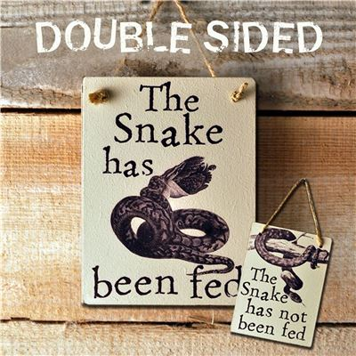 Double Sided The Snake Has Been Fed - (etch)