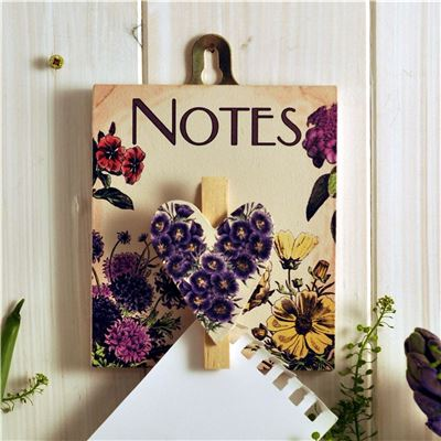 Notes peg board