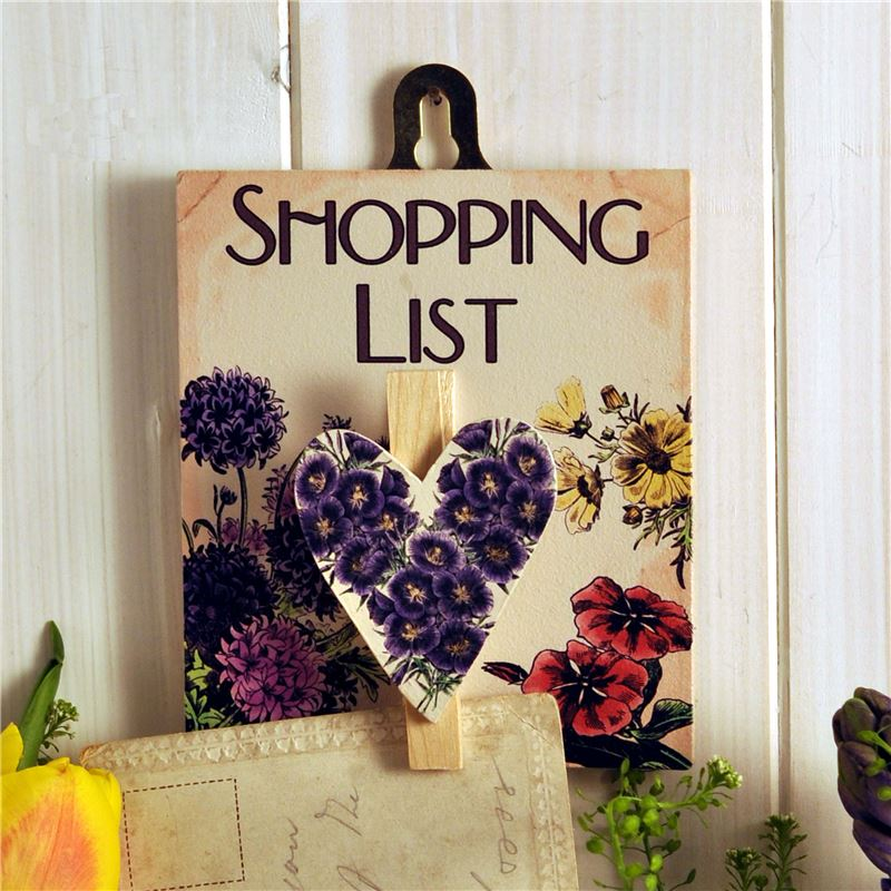 Copy of Shopping List wooden peg board