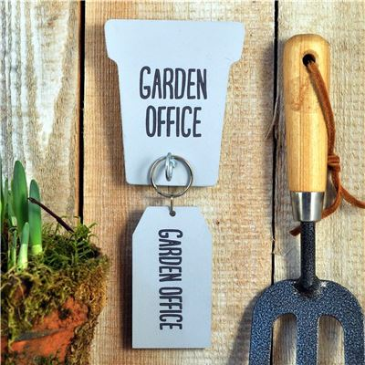 Garden Office Key rack and key ring