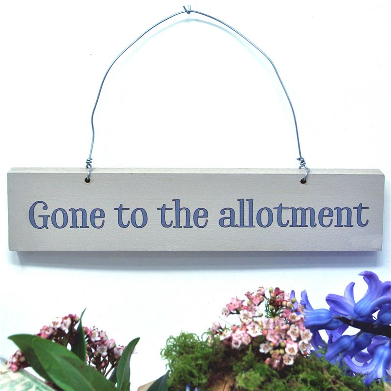 Gone to the allotment