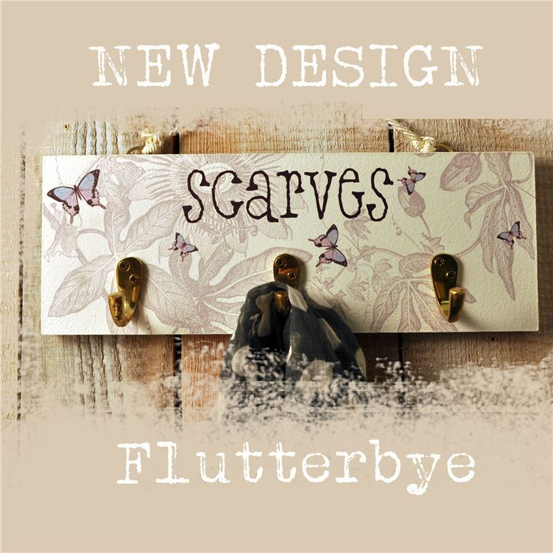 Order Flutterbye: Scarf Rack With Three Hooks