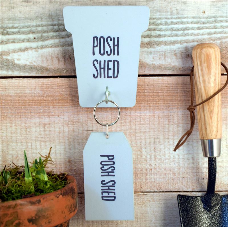 'Posh shed' Key rack and key ring