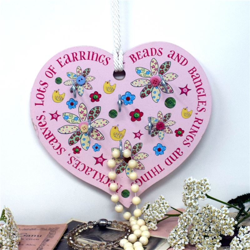 Jewellery Heart in Bird & Button Design