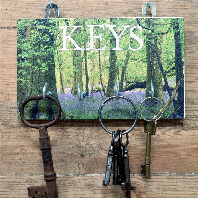 4 Hook woodland  Key Rack