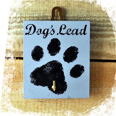 The Dog's Lead Blue Paw Print