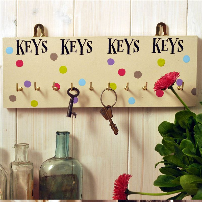 Seriously:  Hand Painted Wooden Key Rack