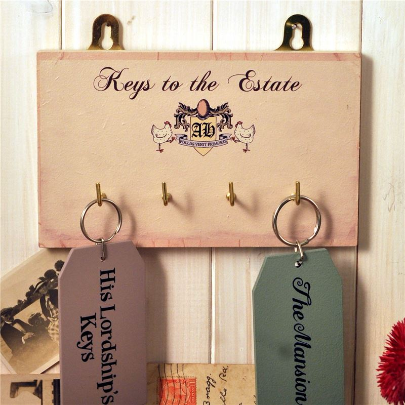 Wooden Key Rack: Keys to the Estate