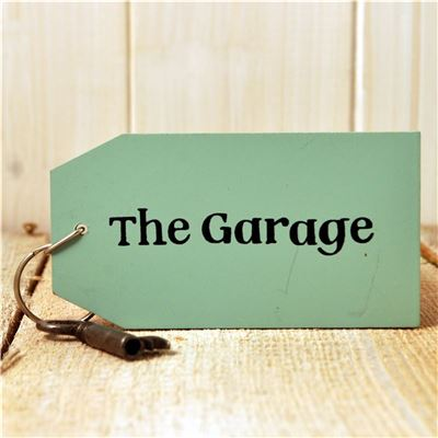 Wooden Key Ring:  The Garage