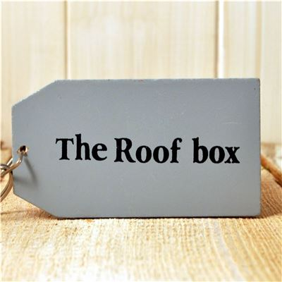 Wooden Key Ring:  The Roof Box