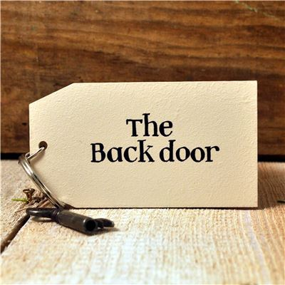 Wooden Key Ring:  The Back Door