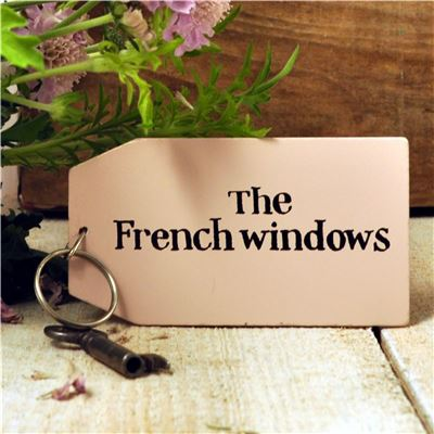 Wooden Key Ring:  The French Windows