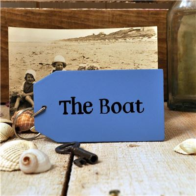 Wooden Key Ring:  The Boat
