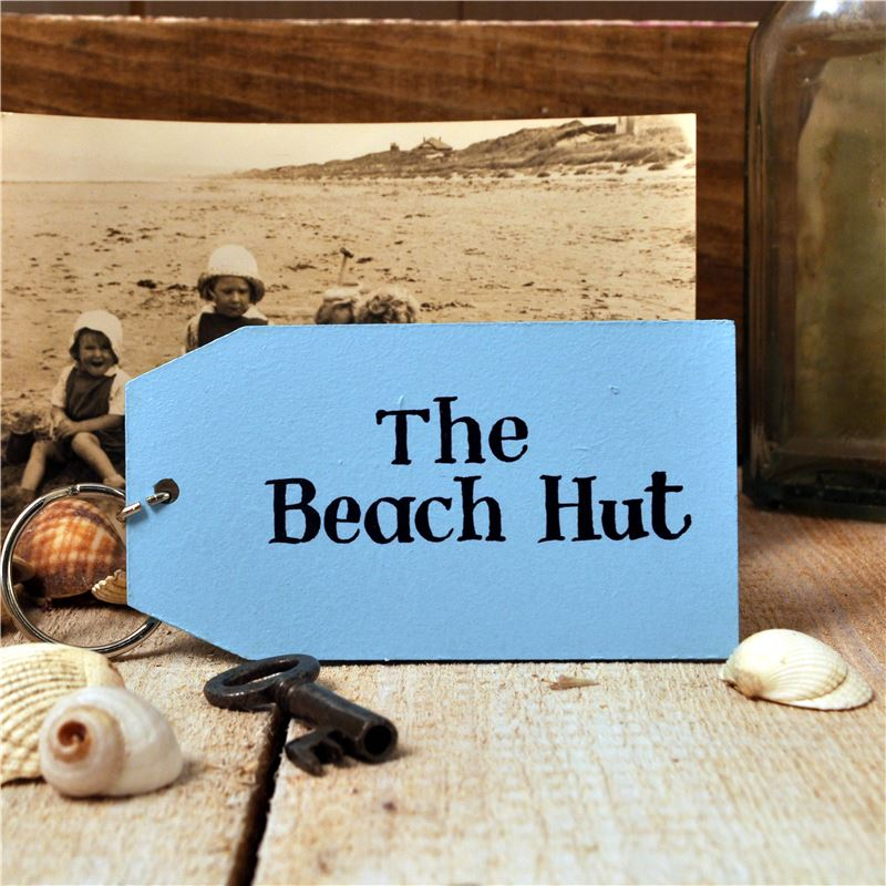 Order Wooden Key Ring:  The Beach Hut