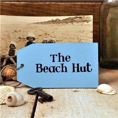 Wooden Key Ring:  The Beach Hut
