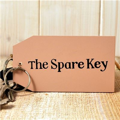 Wooden Key Ring:  The Spare Key