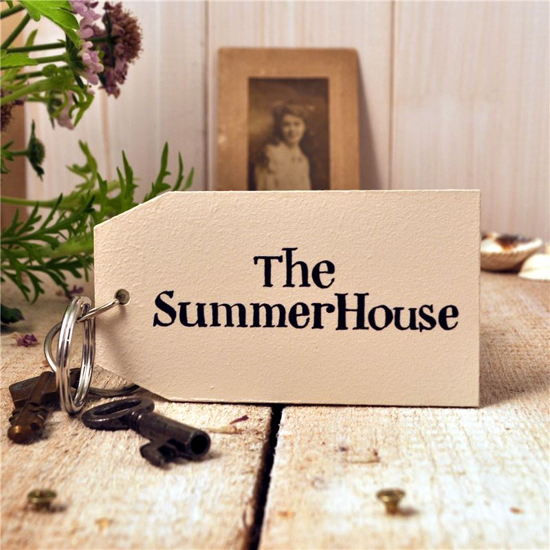 Order Wooden Key Ring:  The Summer House