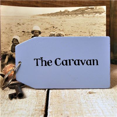 Wooden Key Ring:  The Caravan