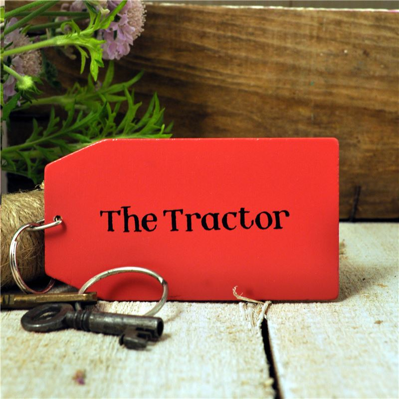 Order Wooden Key Ring:  The Tractor