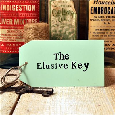 Wooden Key Ring:  The Elusive Key