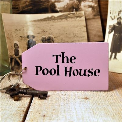 Wooden Key Ring:  The Pool House