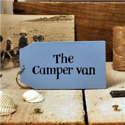 Wooden Key Ring:  The camper van
