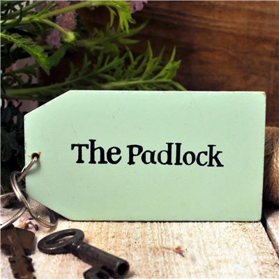 Wooden Key Ring:  The Padlock